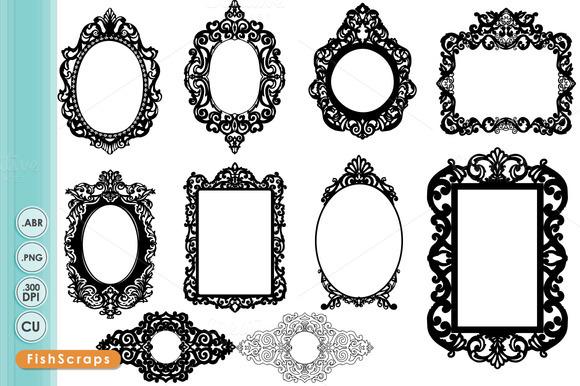 Ornate Baroque Frame Clip Art