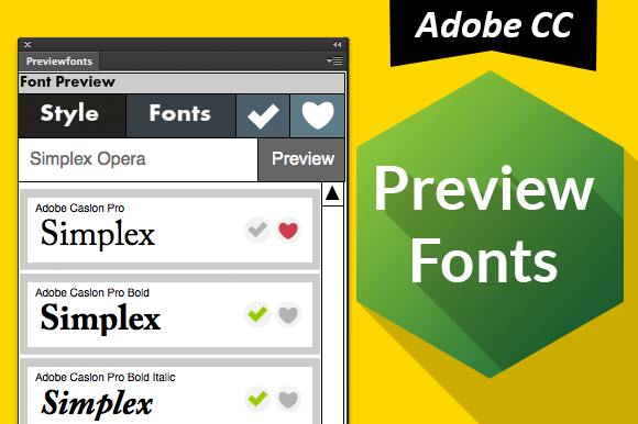 Preview Fonts CC Ps Ai