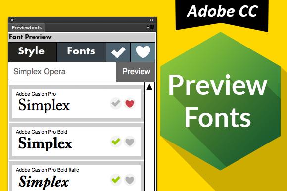 Preview Fonts CC Ps Ai