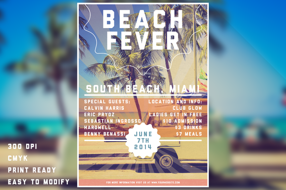 Beach Fever Flyer