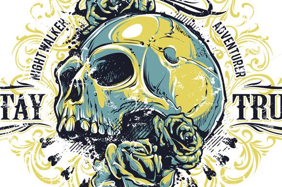 Grunge Skull Print #1