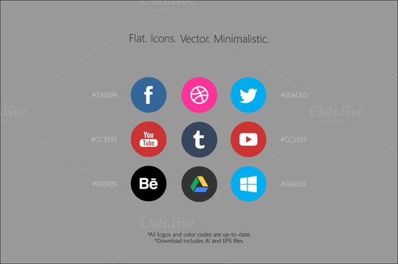 Flat Icons Vector Minimalistic