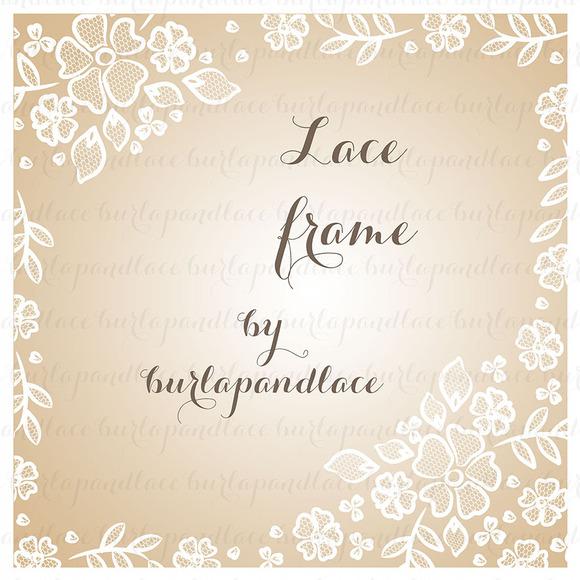 Lace Border Wedding Invitation