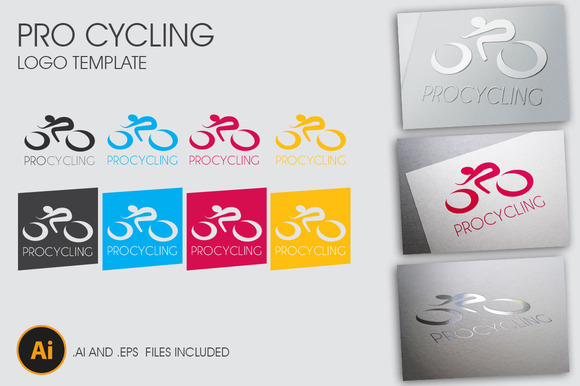 Pro Cycling Logo Template