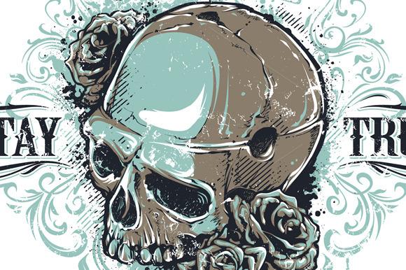 Grunge Skull Print #3