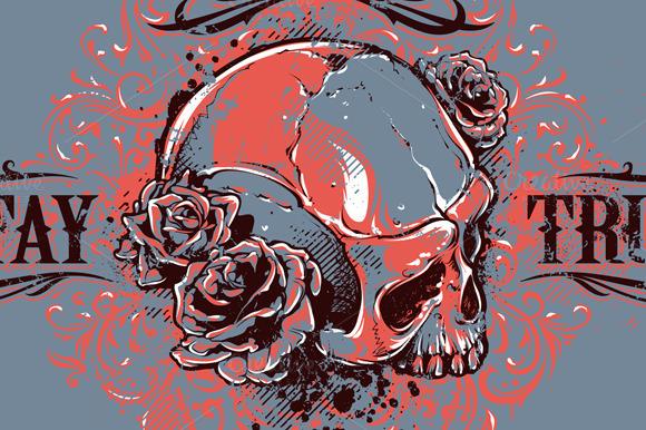 Grunge Skull Print #5
