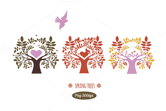 Spring Trees Png Clipart