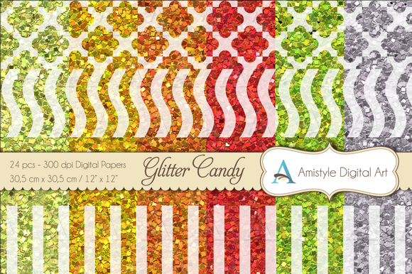 Glitter Candy Digital Papers