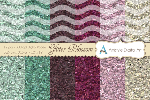 Glitter Papers Blossom Wave