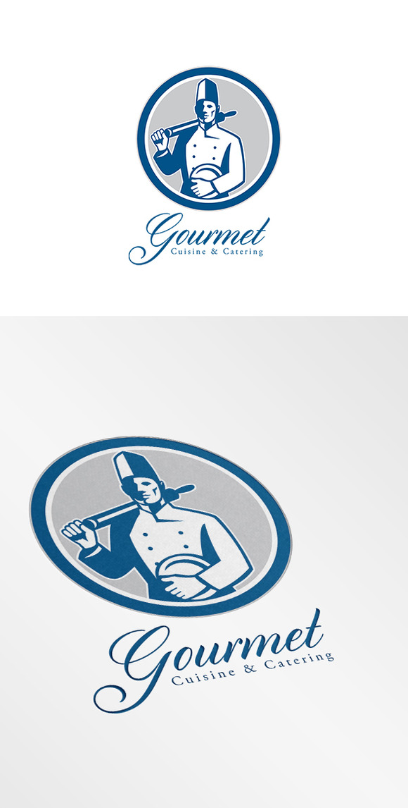 Gourmet Cuisine And Catering Logo Re