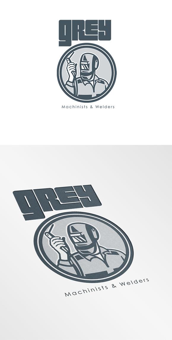 Grey Machinist And Welder Logo