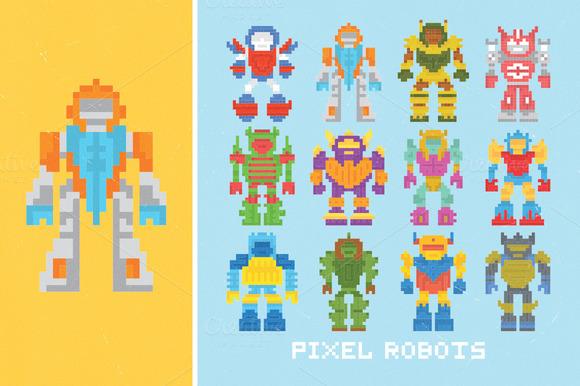 Pixel Robots Set