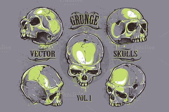 Skulls Vector Set #1