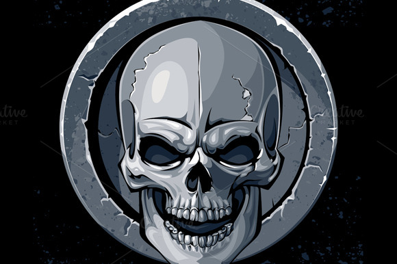 Skull In Stone