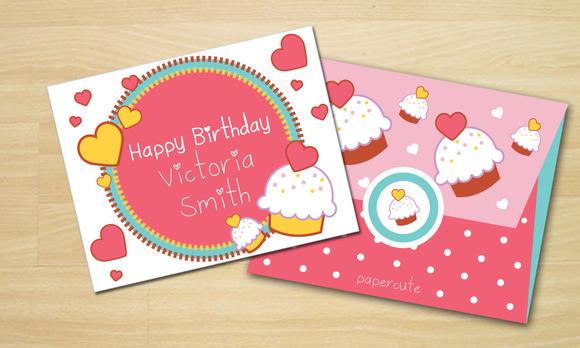 Envelope Sweet Cupcake