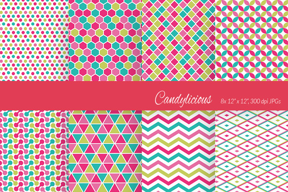 Candylicious Basic Shapes Patterns