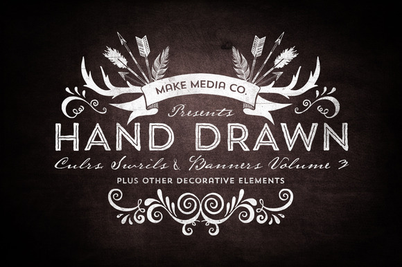 Hand Drawn Curls Banners Vol 3