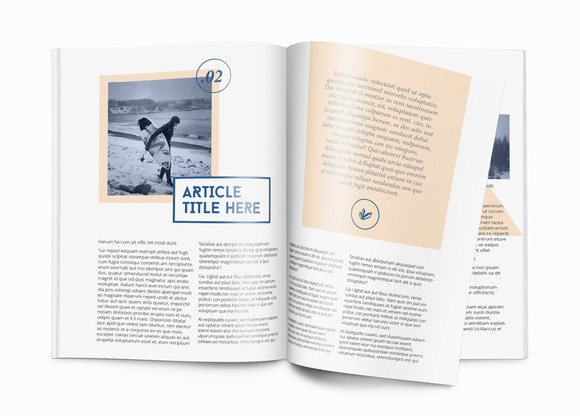 A4 InDesign Magazine Template