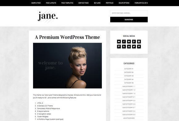 Jane WordPress Theme
