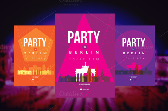 3 Posters Party In Berlin
