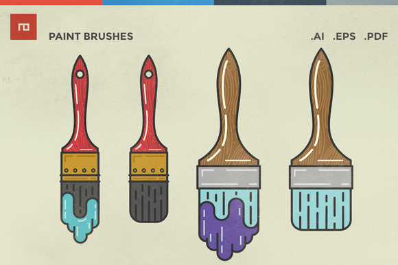 Paint Brush Illustrations