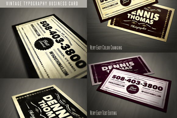 Retro Business Card Template 04