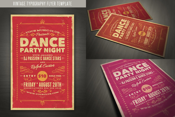 Vintage Style Typography Flyer