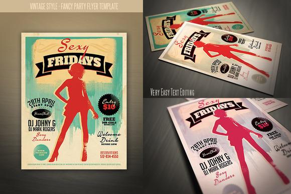 Vintage Style Fancy Night Flyer
