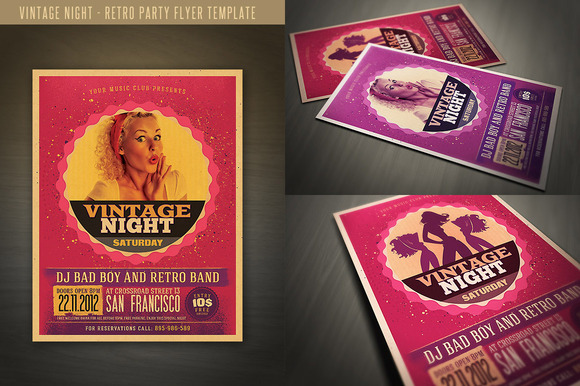 Retro Style Party Flyer