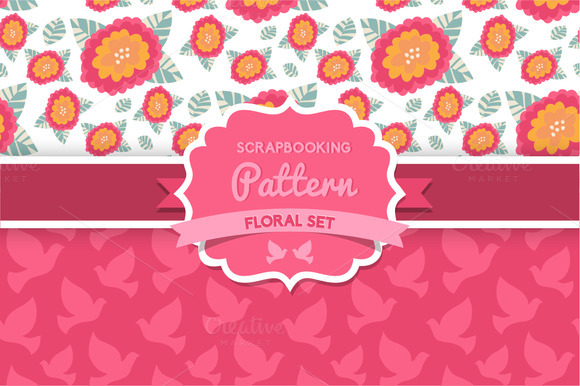 Flowers And Dove Seamless Pattern
