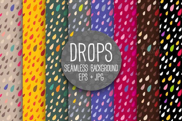 DROPS Seamless Background Bright