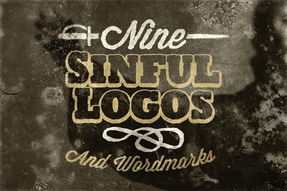9 Sinful Logos Wordmarks