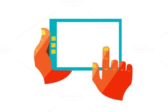 Blank White Monitor Digital Tablet