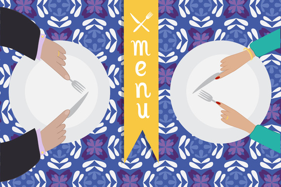 Menu Hands And Plates