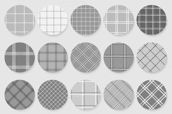 Checkered Monochrome Tile Patterns
