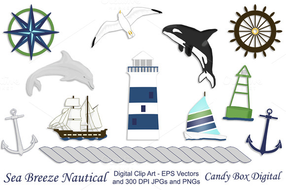 Nautical Clip Art W Vectors