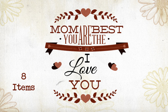 Mother S Day Typography
