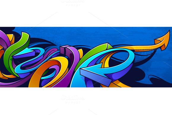 Graffiti Long Background