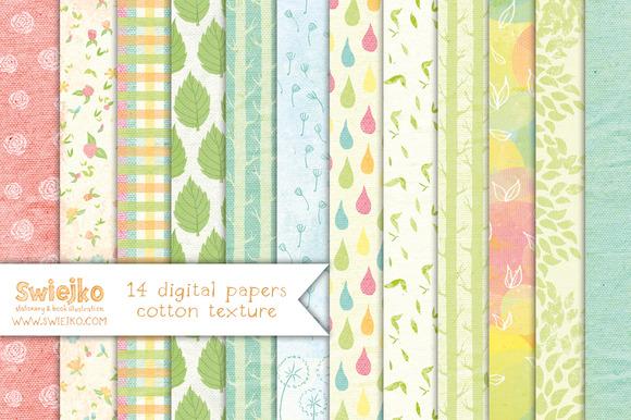 Floral Paper Linen Texture