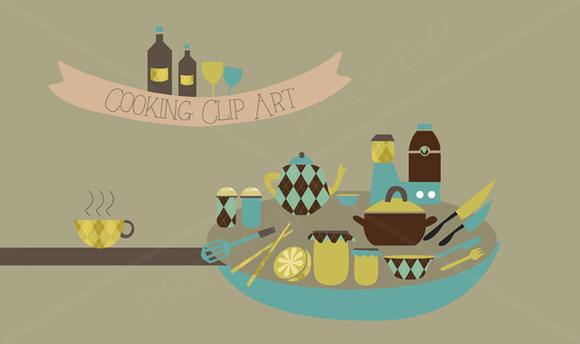 Cooking Clip Art Vectors