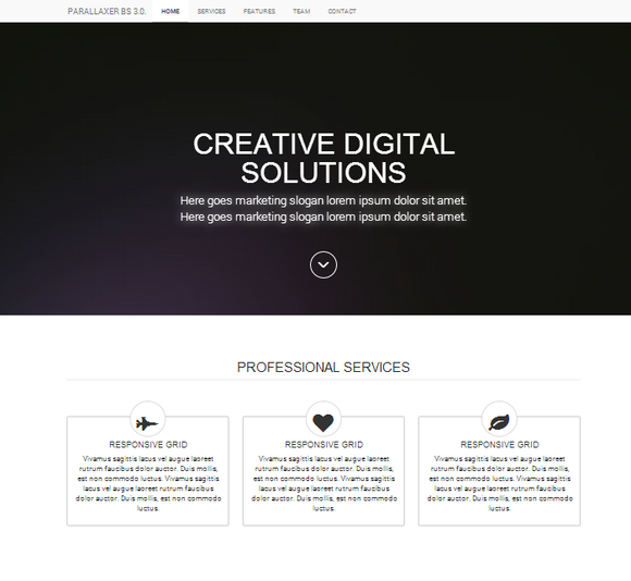 Simple Landing App Page Bootstrap 3