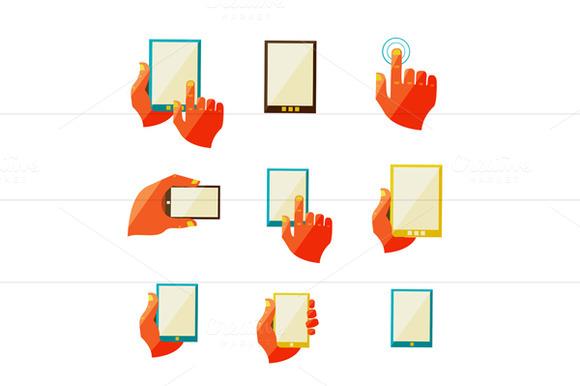 Mobile Communication Flat Icons