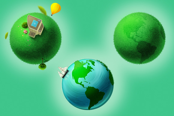 Conceptual Earth Illustration