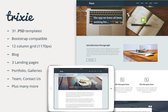 Trixie Multi Purpose PSD Theme