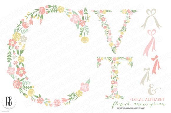 Flower Monogram Floral Type