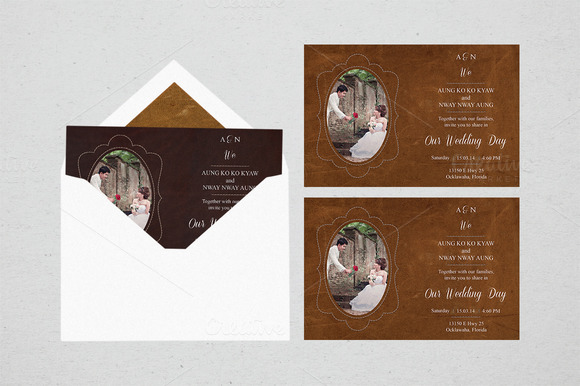 Leather Wedding Invitation