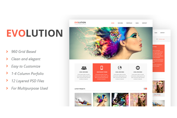 Evolution PSD Template