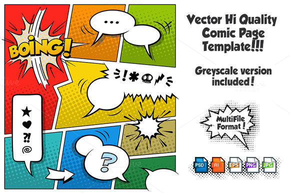 Vector Comic Page Template 2