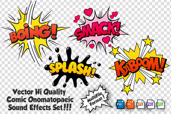 Comic Sound Effects Set 2