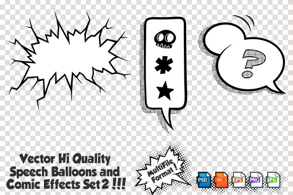 Vector Comic Elements Set2